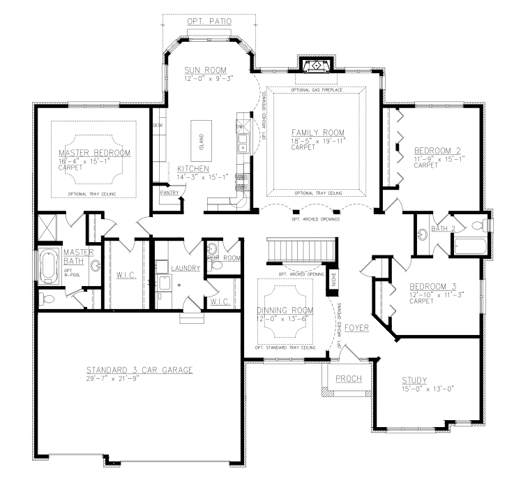 Berkshire on one bedroom ranch house plans
