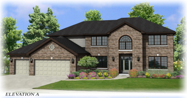 This 3267 Sqft Two Story Home Is Designed With 4 Bedrooms And 2 1 Baths Vaulted Ceiling In The Family Room A Study Formal Living Dining Rooms